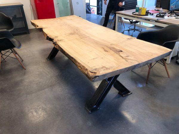 Houten Meubels Op Maat - Boomstamtafel kantoor - Rewoody