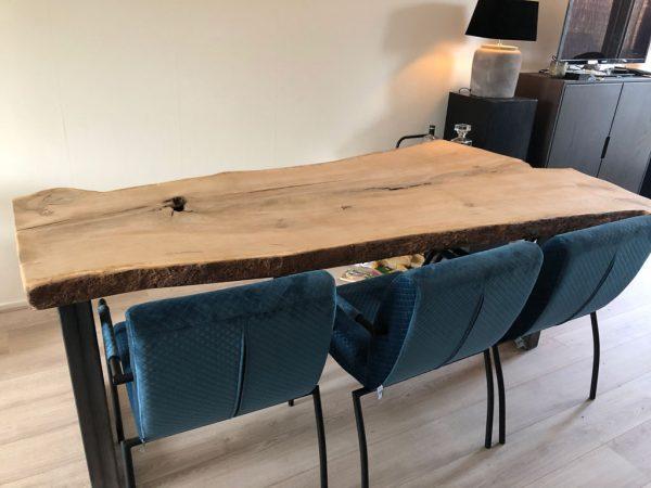 Houten Meubels Op Maat - Boomstamtafel met stoelen - Rewoody