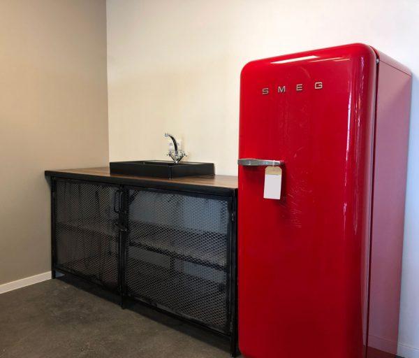 Houten Meubels Op Maat - Keukenblok met koelkast - Rewoody