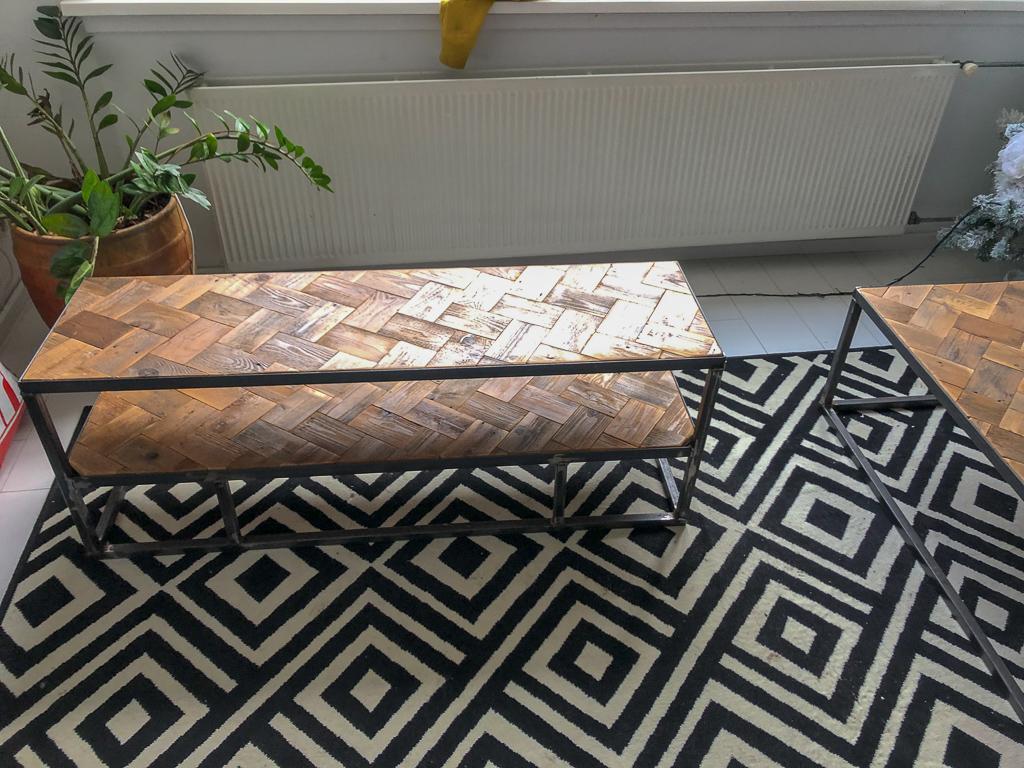 Houten Meubels Op Maat - Tv meubel met visgraat blad - Rewoody